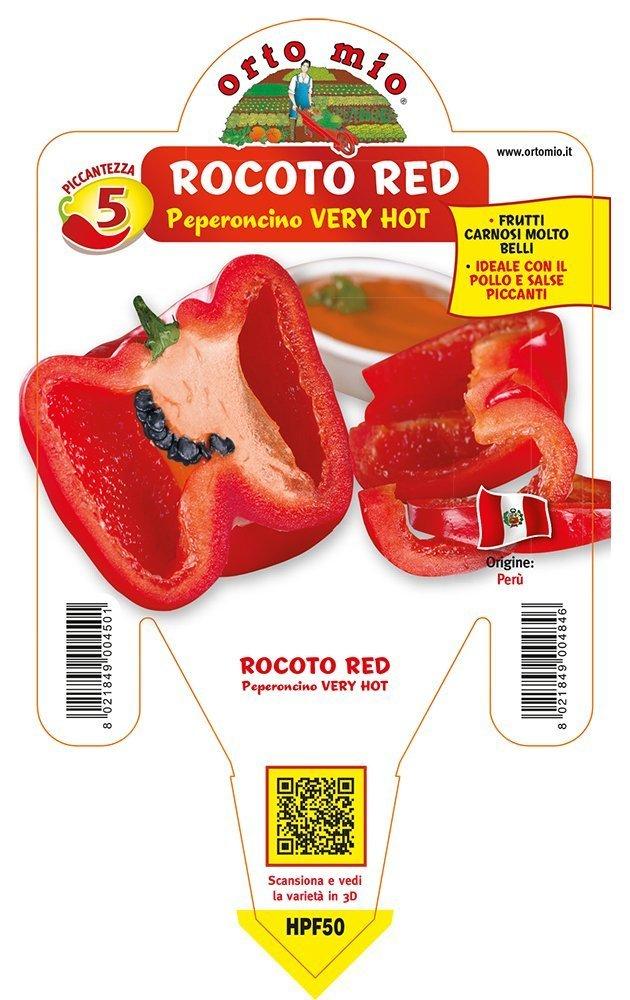 Peperoncino piccante HOT Rocoto Red - Idea Verde Maschi